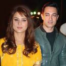 Aamir Khan and Preity Zinta