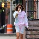 Irina Shayk – Out for a coffee run in New York