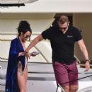 Stephanie Davis and Gabby Allen on a yacht in Marbella - 454 x 618