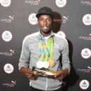 Usain Bolt Visits The PUMA Lab Powered By Foot Locker In NYC - 409 x 600