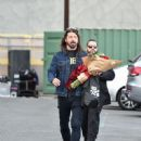 Dave Grohl is seen leaving 'Jimmy Kimmel Live' in Los Angeles, California