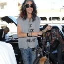 Rocker Steven Tyler departing on a flight at LAX airport in Los Angeles, California on November 22, 2014