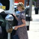 Dianna Agron in a print dress out in Los Angeles - 454 x 767