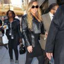 Mariah Carey – Leaves her apartment in New York City