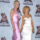 Sharon Stone and Christina Aguillera At The 2004 MTV Movie Awards - Arrivals