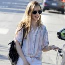 Lily Collins in White Pants – Out in Beverly Hills - 454 x 681