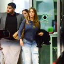 Sofia Vergara In Jeans At Airport In Miami