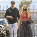 Chrishell Stause with Gleb Savchenko at the DWTS studio in Los Angeles