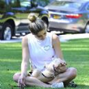Ashley Greene – Walking her dog in Beverly Hills - 454 x 596