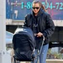 Irina Shayk – Out with her baby Lea in NYC
