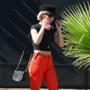 Julianne Hough – In Red Pants Out And About In Los Angeles