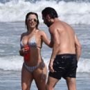 Eva Longoria – Bikini Candids in Marbella - 454 x 682