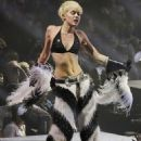 Taking it too far again, Miley? on stage in Vancouver