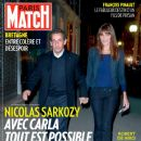 Carla Bruni, Nicolas Sarkozy - Paris Match Magazine Cover [France] (24 October 2013)