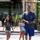 Adam Sandler takes his daughters Sunny and Sadie to breakfast in Malibu, California on September 07, 2015 - 454 x 555