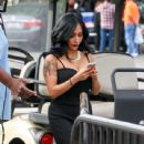 Nicole 'Snooki' Polizzi stop by the 'Extra' set January 26,2015 - 439 x 600