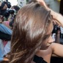 Bella Hadid – Leaving Versace Men SS 2019 Show in Milan