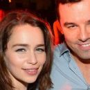 Seth MacFarlane and Emilia Clarke attend the Playboy and True Blood 2012 Event on July 14, 2012 in San Diego, CA