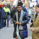 Yara Shahidi – Arrives at 'Good Morning America' in NYC - 454 x 682