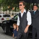 Matthew McConaughey with his family in New York City (July 23)