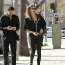 Khloe Kardashian heads to the gym in Beverly Hills, California on February 12, 2017
