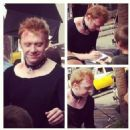 Rupert Grint was spotted on set of his new film, CBGB, yesterday, July 11, in Savannah - 454 x 454