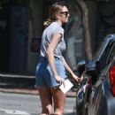 Candice Swanepoel in Denim Shorts – Out in Brazil