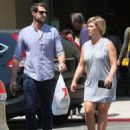 Jennie Garth and husband Dave Abrams g out shopping at Macy's in Los Angeles, California on August 26, 2016 - 454 x 585