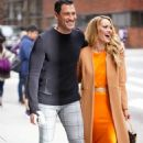 Peta Murgatroyd and Maksim Chmerkovskiy – Outside of BUILD in New York
