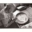 "Picasso painting a large ""Fish Dish"" - 200 x 158"