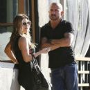Actor Dominic Purcell cozies up to a mystery girl after enjoying lunch with her at Granville in Studio City, California on January 14, 2015 - 454 x 573