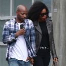 Kelly Rowland and her husband Tim Weatherspoon out in West Hollywood - 454 x 681