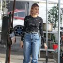 Hailey Baldwin in Jeans at Joan's on Third in Los Angeles