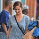 Minka Kelly: shopping trip in the East Village in New York City