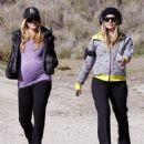 Fergie And A Friend Out For A Walk