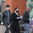 Demi Lovato with boyfriend Max Ehrich shopping in LA