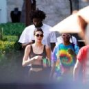 Kendall Jenner – Heads to the pool in Miami