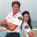 David Hasselhoff and Nancy Valen