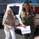 Blac Chyna and Kim Kardashian at Stanley's in Los Angeles