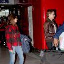 Alison Brie at Charles de Gaulle Airport in Paris