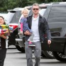 Eric Dane takes his daughter Billie to a friend's birthday party on February 2, 2013 in Burbank, California
