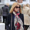 Claudia Schiffer out on a school run in London - Jan 31, 2011