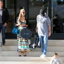 Paris Hilton spotted leaving Barney's April 6, 2017 in Beverly Hills Ca