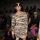Kat Graham attends the Jeremy Scott fashion show during MADE Fashion Week Spring 2014 at Milk Studios on September 11, 2013 in New York City