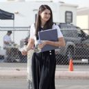 "Shailene Woodley: filmed new scenes for her upcoming flick ""White Bird In A Blizzard"" in Los Angeles"