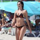 Aida Yespica in Bikini on the beach in Los Angeles