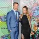 Joel Kinnaman and his wife Cleo Wattenström at 'Suicide Squad' Premiere in New York 08/01/2016