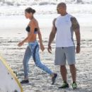 Dwayne Johnson- March 28, 2016-The Set of Baywatch - 454 x 312