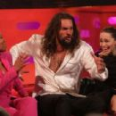 Regina King, Emilia Clarke and Jason Momoa at the Graham Norton Show in London - 454 x 303