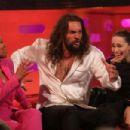 Regina King, Emilia Clarke and Jason Momoa at the Graham Norton Show in London
